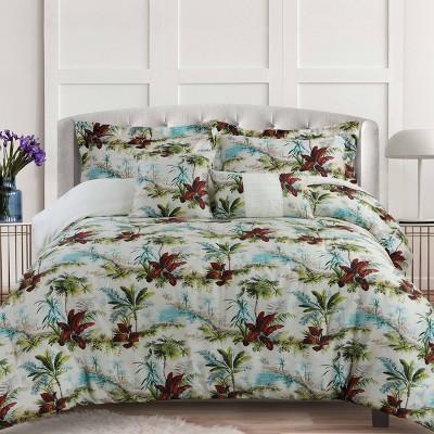 Paradise Island 5pc 300 Thread Count Cotton Comforter Set - Tribeca Living