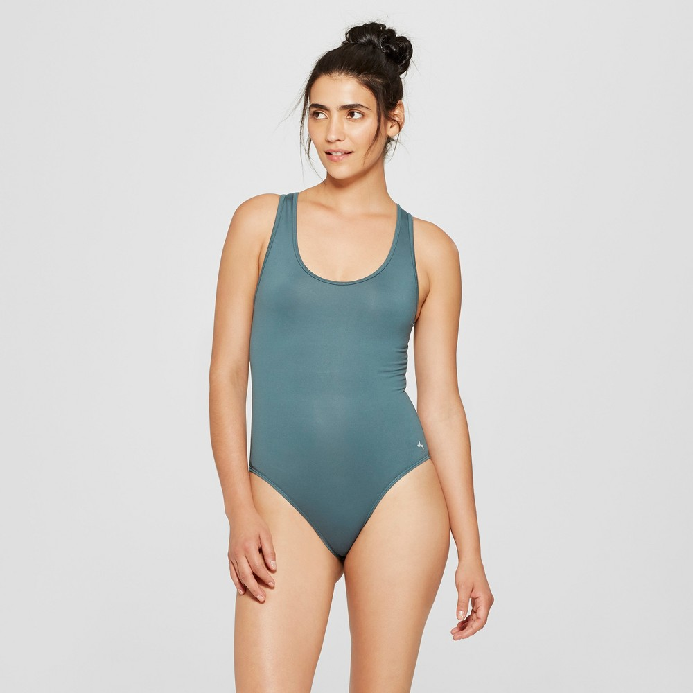 Women's Comfort Layered Mesh Back Bodysuit - JoyLab Mediterranean Blue Xxl