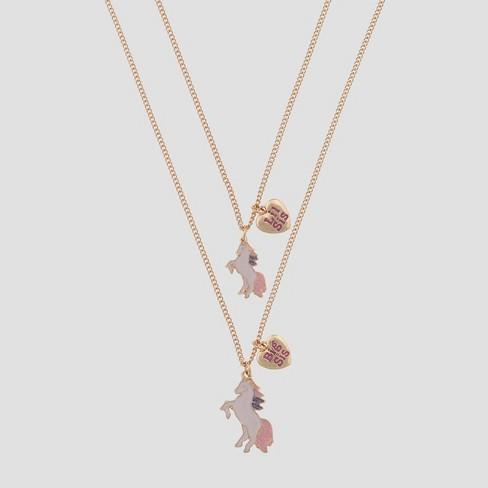 Girls' BFF Unicorn Necklace Set - Cat & Jack™ - image 1 of 2