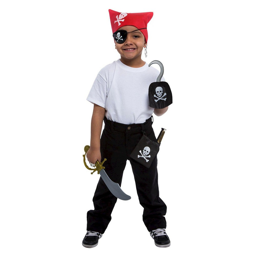 Pirate Costume Kit Boys', Black