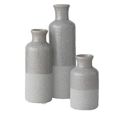 """Sullivans Set of 3 Small Ceramic Bottle Vases 5""""H, 7.5""""H & 10""""H"""