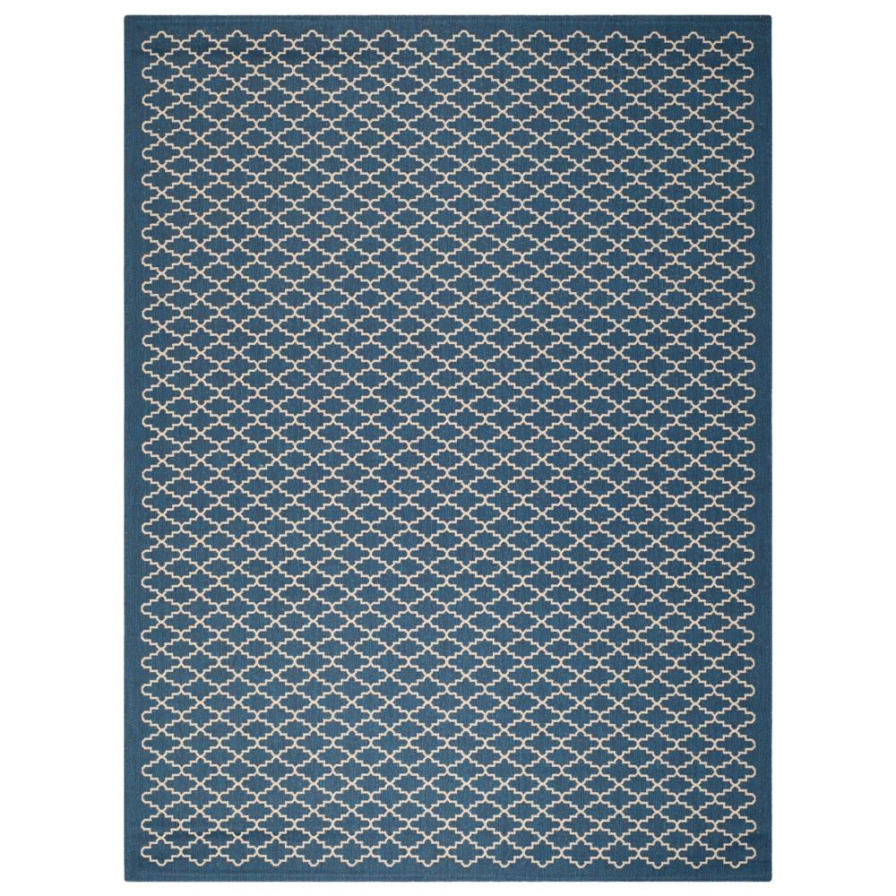 Durres Rectangle 8'X11' Patio Rug - Navy/Beige (Blue/Beige) - Safavieh