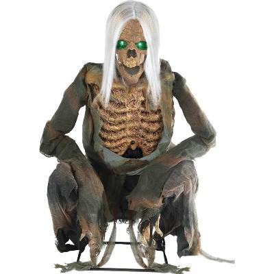 "36"" Halloween Animated Crouching Bones Prop"