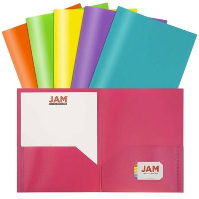 JAM 6pk 2 Pocket Plastic Folder