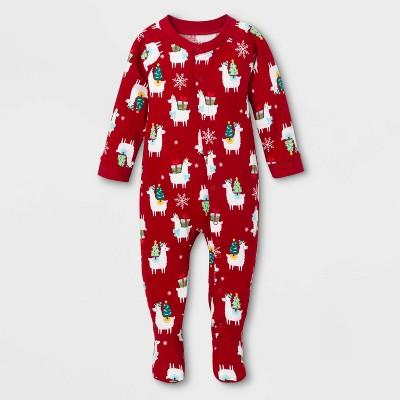 Baby Holiday Llama Footed Pajamas - Wondershop™ White 3-6M