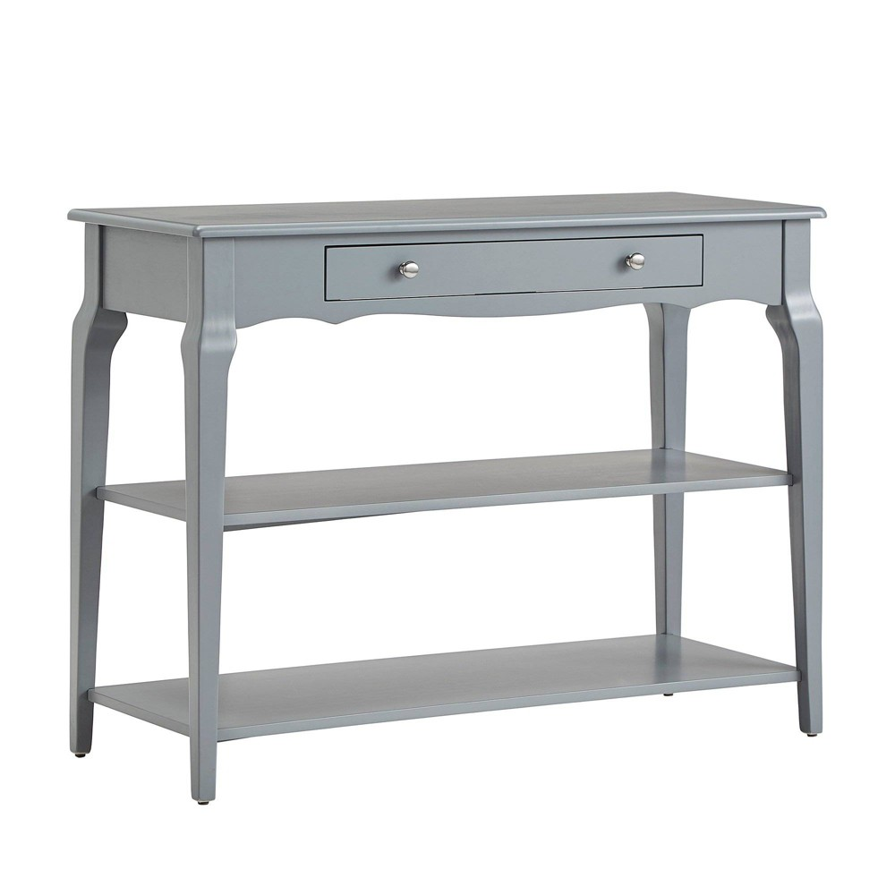 Muriel Console Table TV Stand with Shelves Gray - Inspire Q