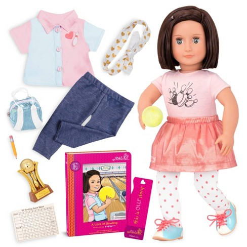 Our Generation Deluxe Bowling Doll with Book - Everly - image 1 of 4