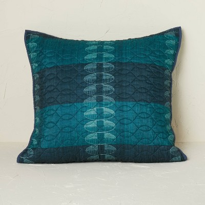 Euro Printed Quilt Sham Teal - Opalhouse™ designed with Jungalow™