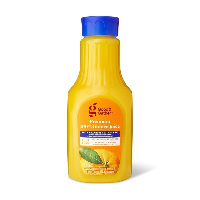 Pulp Free 100% Orange Juice Not From Concentrate w/ Calcium & Vitamin D - 52 fl oz - Good & Gather™