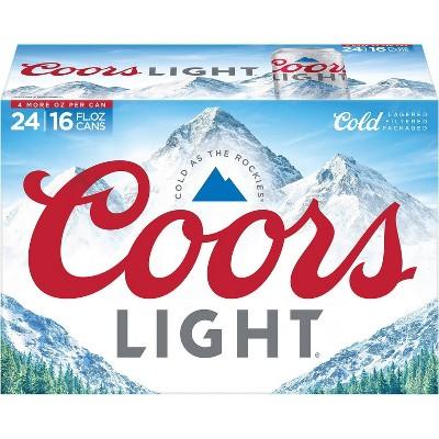 Coors Light Beer - 24pk/16 fl oz Cans