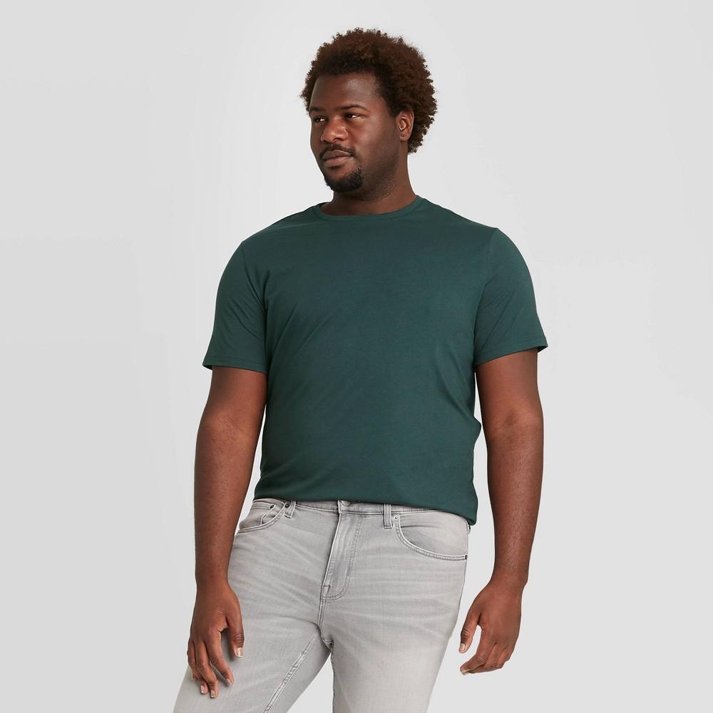 Men 39 S Big 38 Tall Regular Fit Crewneck T Shirt Goodfellow 38 Co 8482 Green 4xbt