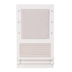 Grayson Wall Mounted Jewelry Organizer White - 88 Main