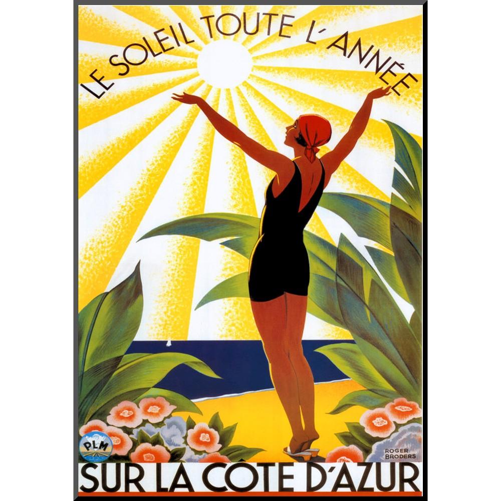 Art.com - Soleil Toute L'annee Mounted Print