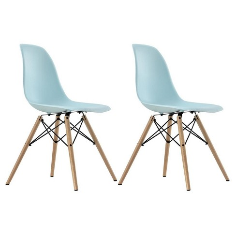 Excellent Mid Century Modern Molded Chair With Wood Leg Set Of 2 Pabps2019 Chair Design Images Pabps2019Com