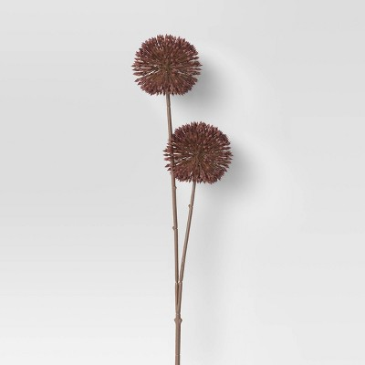 """24"""" Artificial Allium Stem Purple - Threshold™"""