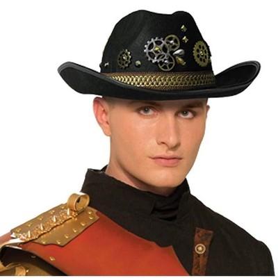 Forum Novelties Steampunk Cowboy Men's Costume Hat, Black