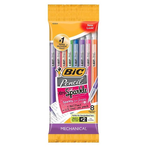 BIC® #2 Xtra Sparkle Mechanical Pencils, 0.7mm, 8ct - Multicolor - image 1 of 6