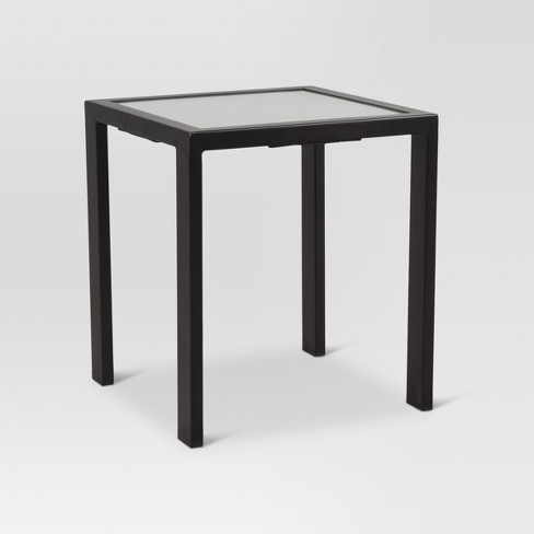Outdoor Glass Square Accent Table Threshold Target