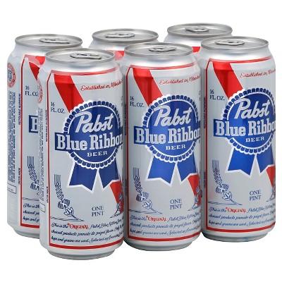 Pabst Blue Ribbon Beer - 6pk/16 fl oz Cans