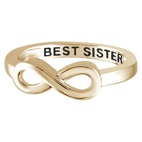 "Women's Sterling Silver Elegantly Engraved Infinity Ring with ""BEST SISTER"" - image 1 of 1"