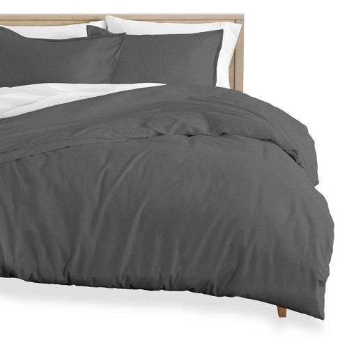 Bare Home Cotton Flannel Duvet Cover And Sham Set King/California