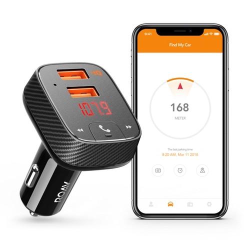 Anker ROAV SmartCharge Car Kit Bluetooth Wireless FM Transmitter - Black