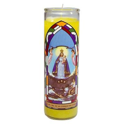 Jar Candle Nuestra Sinora Caridad Del Cobre Yellow - Continental Candle