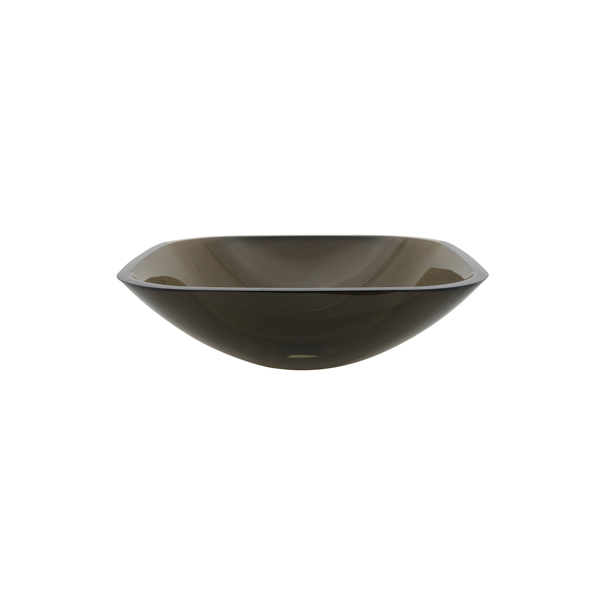 Tempered Glass Square Bathroom Vessel Sink Amber Bronze - Kingston Brass