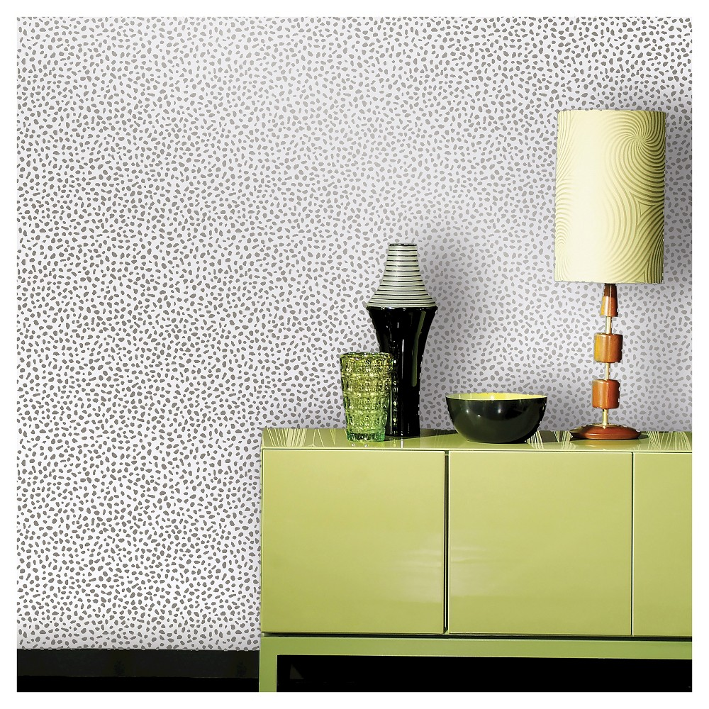 Devine Color Speckled Dot Peel & Stick Wallpaper - Sterling, White