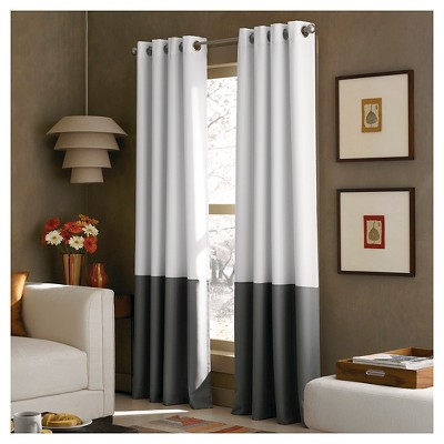 Curtainworks Kendall Lined Curtain Panel - White (108 )