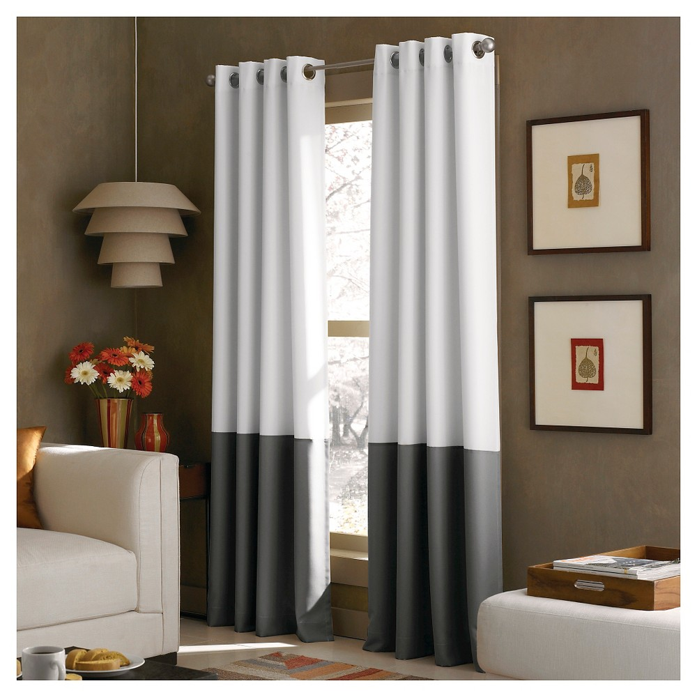 """Image of """"108""""""""x52"""""""" Kendall Lined Curtain Panel White - Curtainworks, Size: 108"""""""""""""""