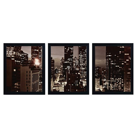 'NYC After Dark' by Ariane Moshayedi Ready to Hang Multi Panel Art Set - image 1 of 2