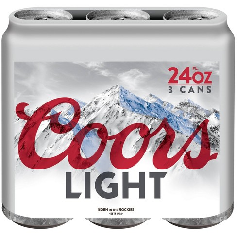 Coors Light Beer - 3pk/24 fl oz Cans - image 1 of 3
