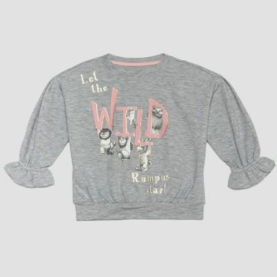 Toddler Girls' Where the Wild Things Are Sweatshirt - Gray 12M