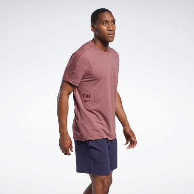 Reebok Les Mills® Pocket T-Shirt Mens Athletic T-Shirts