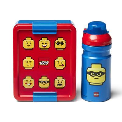 Room Copenhagen LEGO Minifigure Lunch Box Set | Classic Blue/ Red