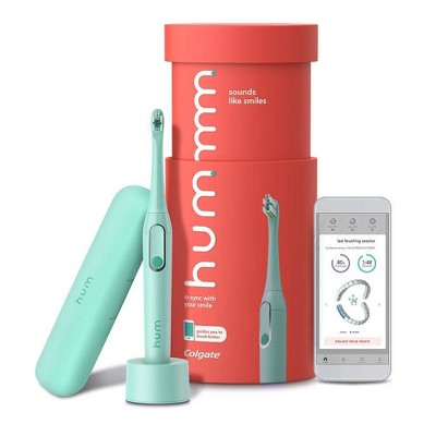 hum by Colgate Smart Rechargeable Electric Toothbrush with Sonic Vibrations and Travel Case