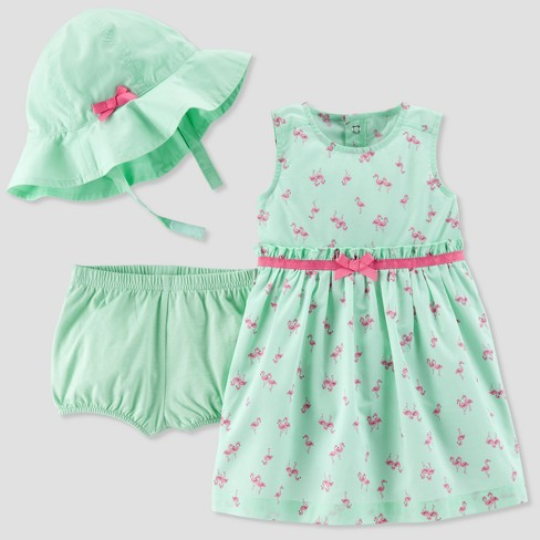 6845b37e3051 Baby Girls  2pc Flamingo Hat Dress Set - Just One You™ Made by Carter s®  Mint