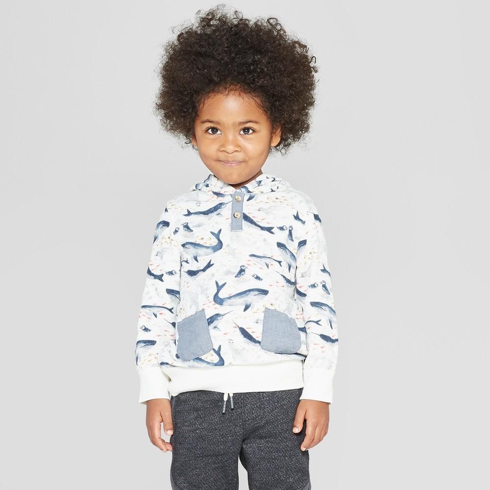 Genuine Kids from OshKosh Toddler Boys' North Sea Creatures Pullover - Cream 5T, Beige
