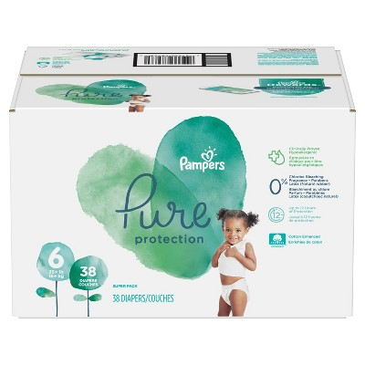 Pampers Pure Protection Disposable Diapers Super Pack - Size 6 (38ct)