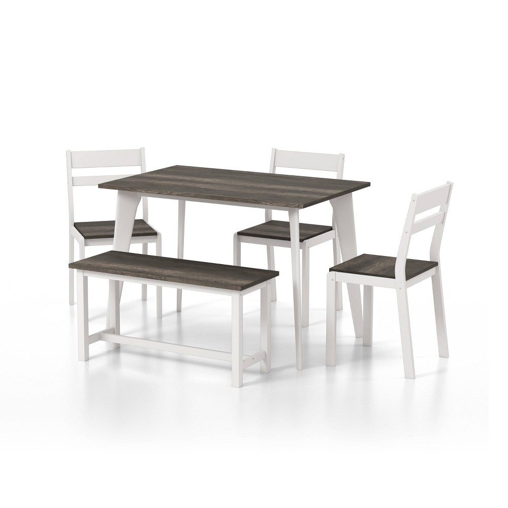 Compare 5pc Miley Ladder Back Dining Table Set with Bench  - HOMES: Inside + Out