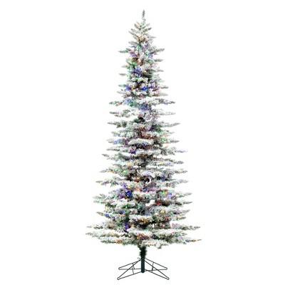 Vickerman Flocked Utica Fir Slim Artificial Christmas Tree
