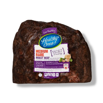 Healthy Ones Medium Rare Roast Beef - Deli Fresh Sliced - price per lb