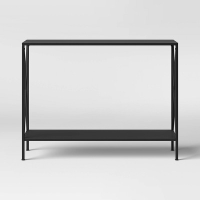 Elroy X Sided Console Table Black - Threshold™