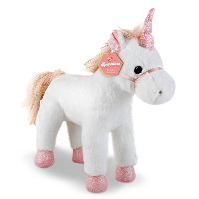 FAO Schwarz Sparklers Toy Glitter Plush - Unicorn
