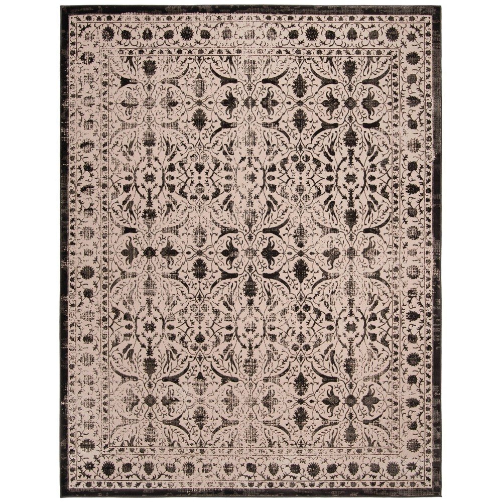 Creme/Black Abstract Loomed Area Rug - (9'X12') - Safavieh
