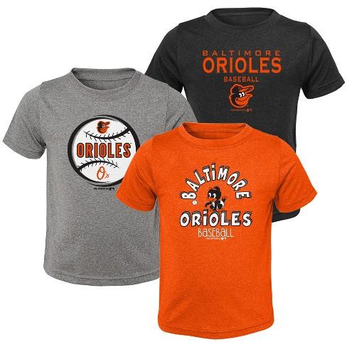 4a168635a Baltimore Orioles Toddler Boys  Gray T-Shirt 3pk - 2T   Target
