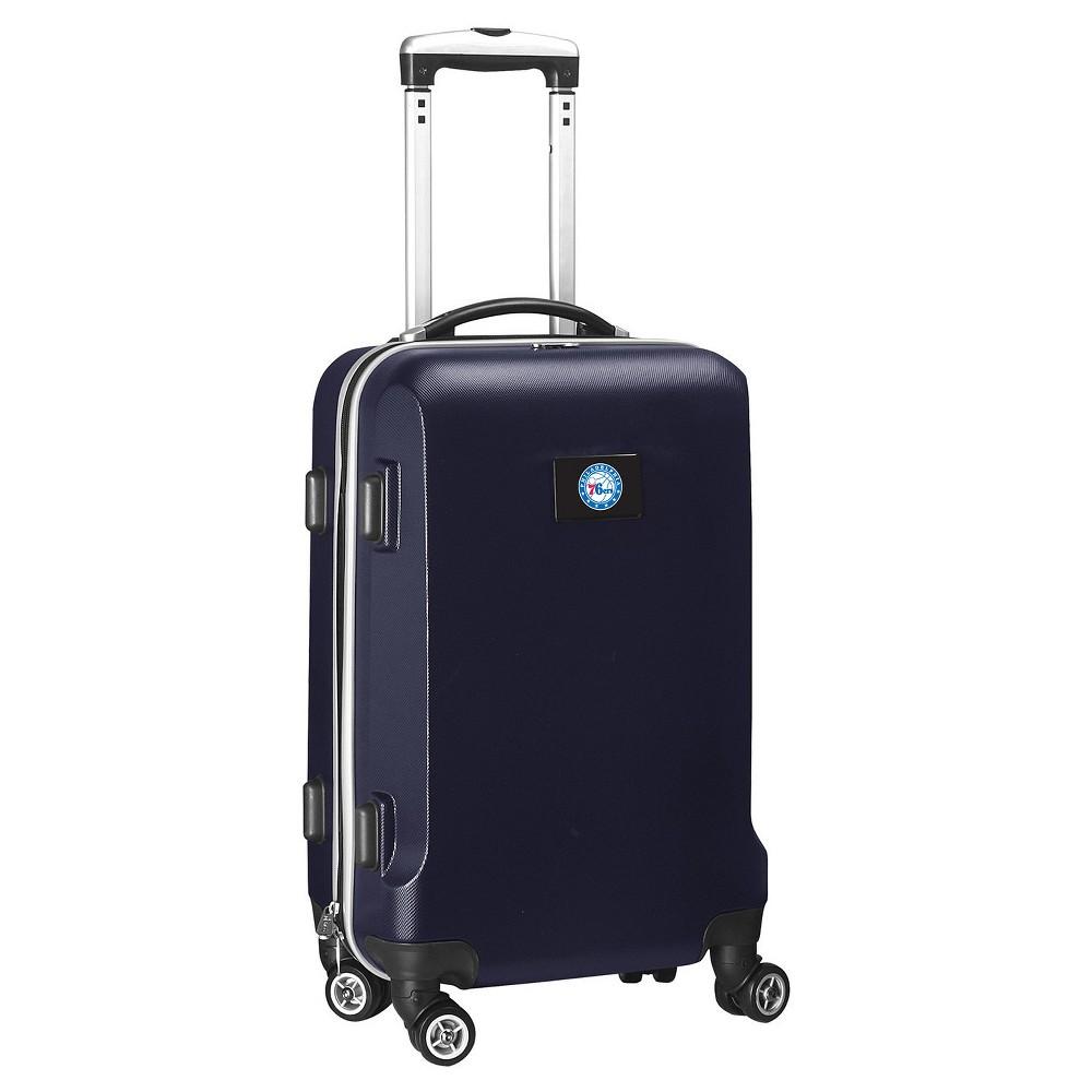 NBA Philadelphia 76ers Mojo Hardcase Spinner Carry On Suitcase - Navy