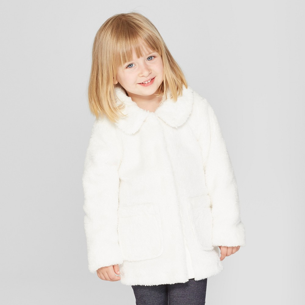 Toddler Girls' Faux Fur Jacket - Cat & Jack White 6X