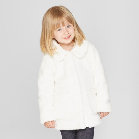 Toddler Girls' Faux Fur Jacket - Cat & Jack™ - image 1 of 3